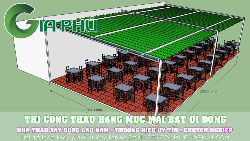 Làm mái xếp di động quận Tân Phú